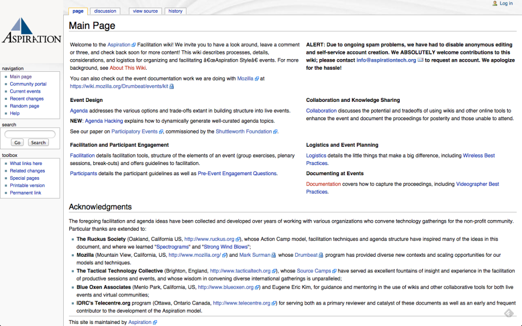 Aspiration wiki